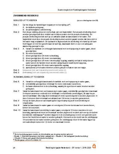 KNBRD diploma Zwemmend Redder 2
