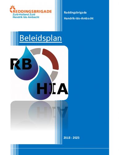 RBHIA Beleidsplan 2018-2023 Versie 22-4-18