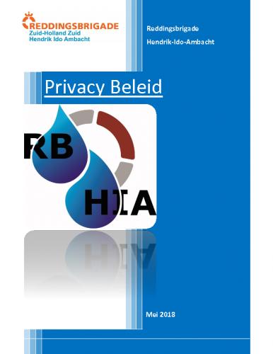 RBHIA Privacy Beleid Versie 24-5-2018