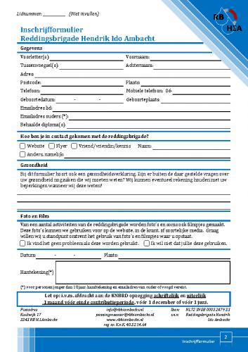 Inschrijfformulier Versie 07-2020